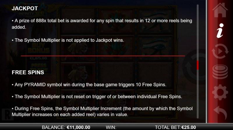 Giza Infinity Reels :: Jackpots