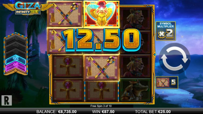 Giza Infinity Reels :: Free Spins Game Board
