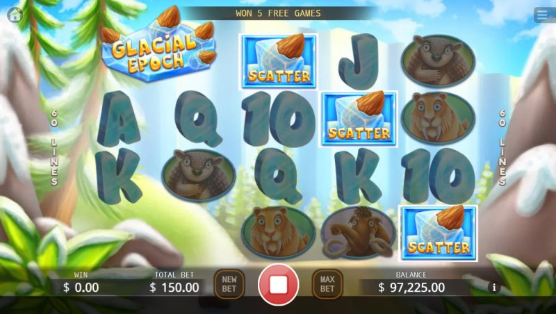 Glacial Epoch :: Scatter symbols triggers the free spins feature