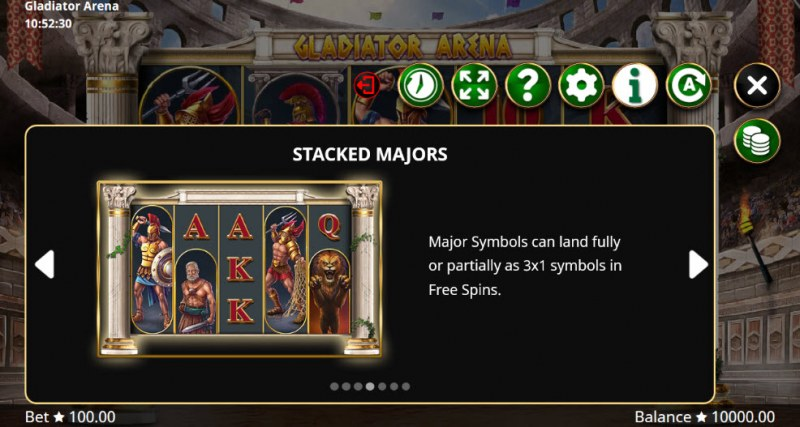 Gladiator Arena :: Stacked Symbols