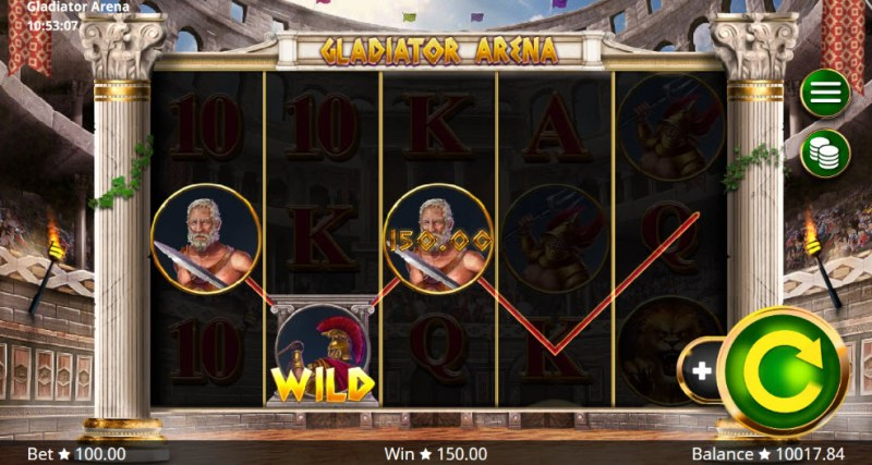 Gladiator Arena :: Three of a kind win