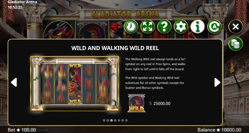 Gladiator Arena :: Wild and Walking Wild Reel