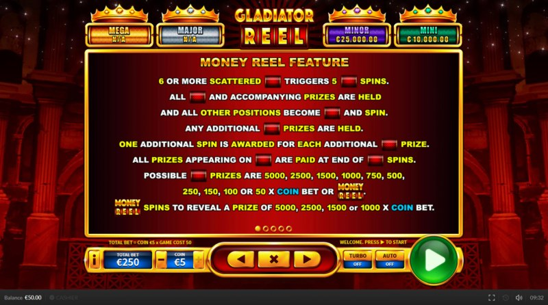 Gladiator Reel :: Money Reel Feature
