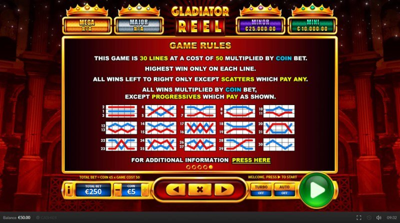 Gladiator Reel :: General Game Rules