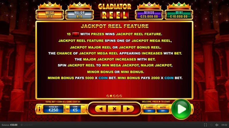 Gladiator Reel :: Jackpot Reel Feature