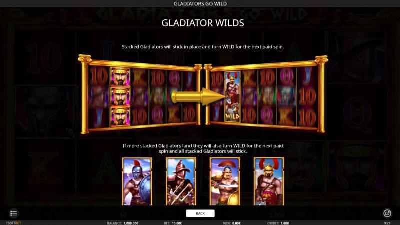 Gladiator's Go Wild :: Wild Symbols Rules
