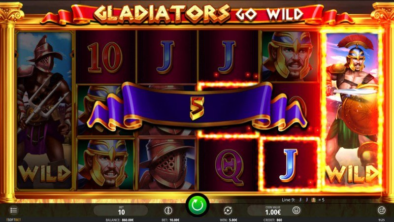 Gladiator's Go Wild :: Game pays in both directions