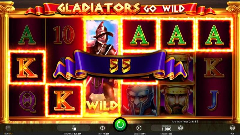 Gladiator's Go Wild :: Multiple winning paylines