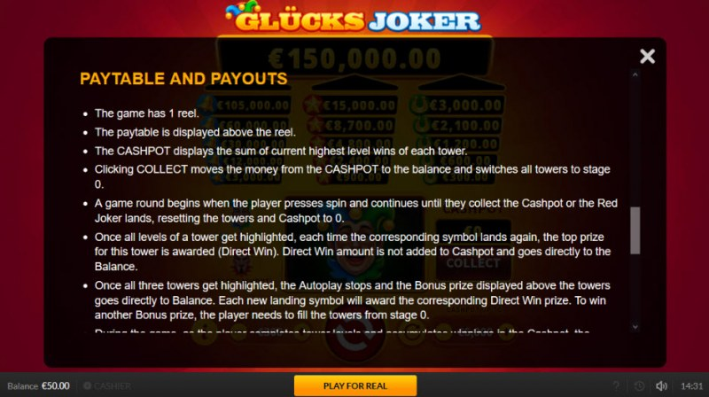 Glucks Joker :: General Game Rules
