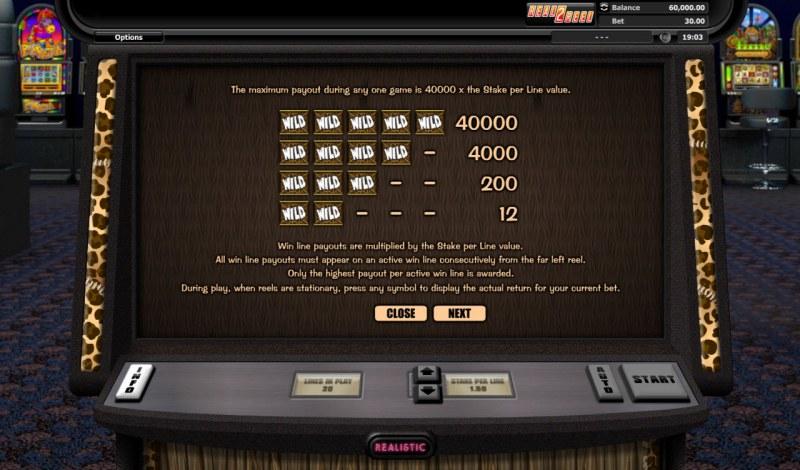 Go Wild On Safari :: Paytable - High Value Symbols