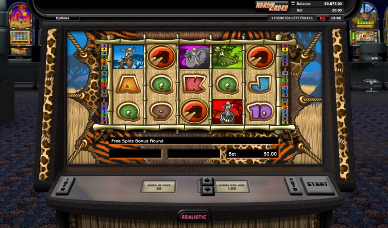 Go Wild On Safari :: Scatter symbols triggers the free spins feature