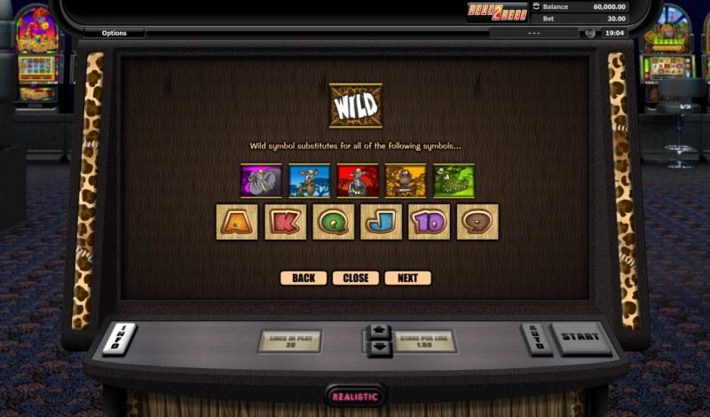 Go Wild On Safari :: Wild Symbols Rules