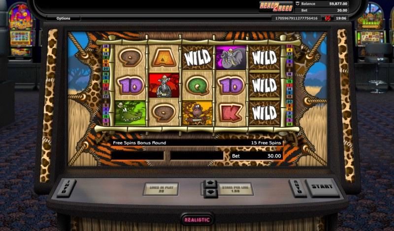 Go Wild On Safari :: Free Spins Game Board
