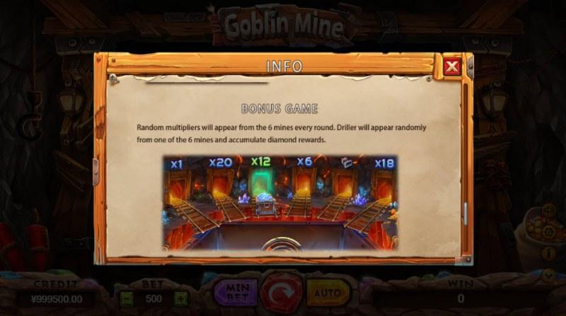 Goblin Mine :: Bonus Game Rules