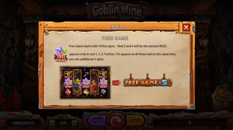 Goblin Mine :: Free Spins Rules