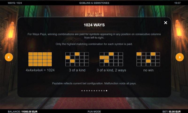 Goblins & Gemstones :: 1024 Ways to Win