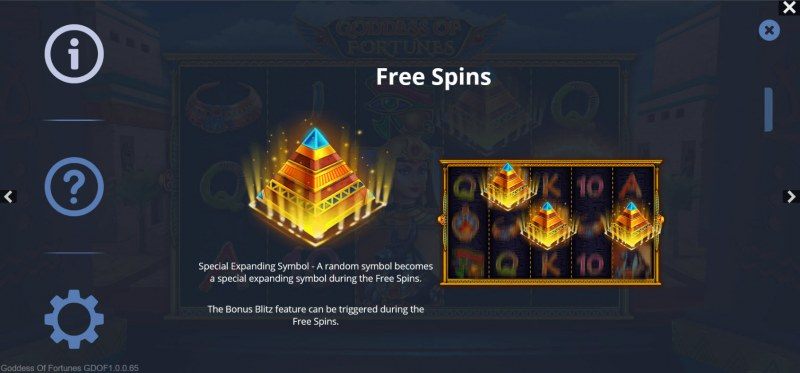 Goddess of Fortunes :: Free Spin Feature Rules