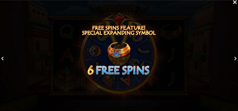 Goddess of Fortunes :: 6 free spins awarded