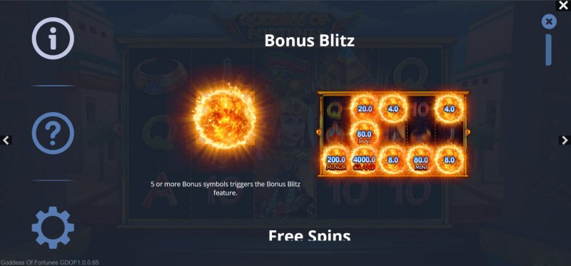 Goddess of Fortunes :: Bonus Blitz