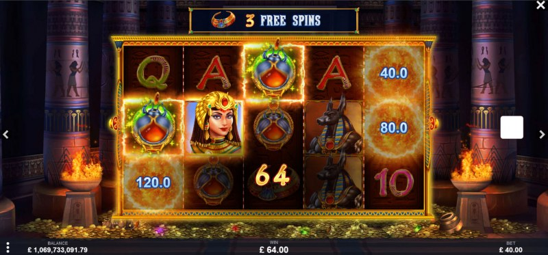 Goddess of Fortunes :: Free Spins Game Board