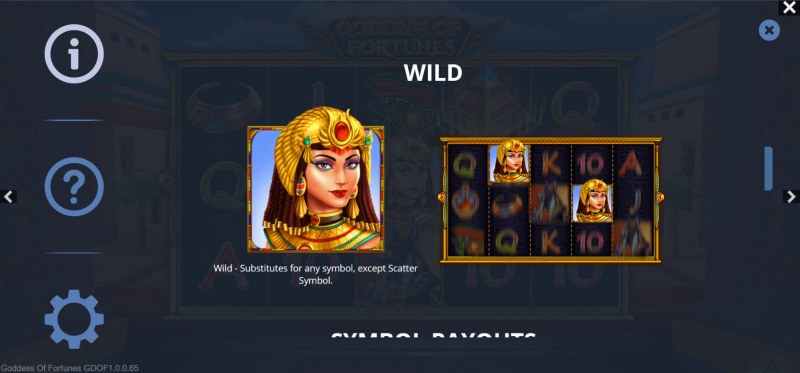 Goddess of Fortunes :: Wild Symbol Rules