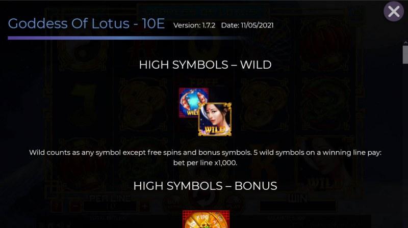 Goddess of Lotus :: Wild Symbol Rules
