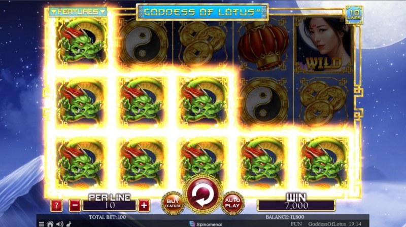 Goddess of Lotus :: Multiple winning paylines
