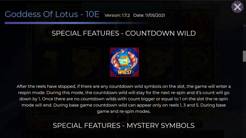 Goddess of Lotus :: Countdown Wild