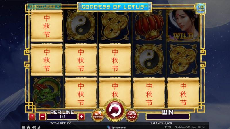 Goddess of Lotus :: Mystery Symbols random appear during any spin