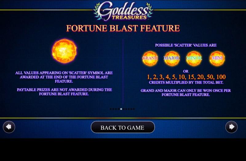Goddess Treasures :: Fortune Blast Feature