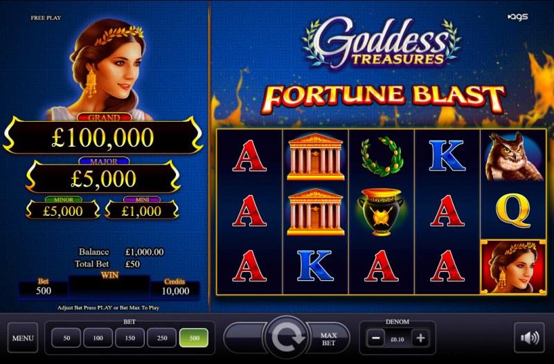 Goddess Treasures :: Main Game Board