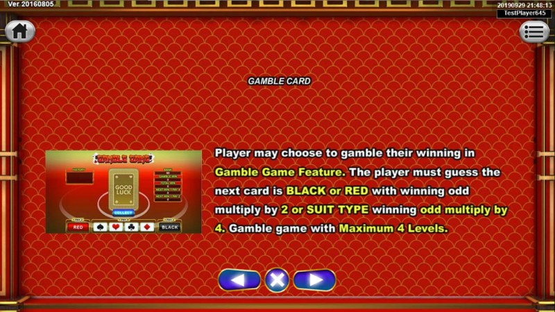God's Kitchen :: Gamble Feature Rules