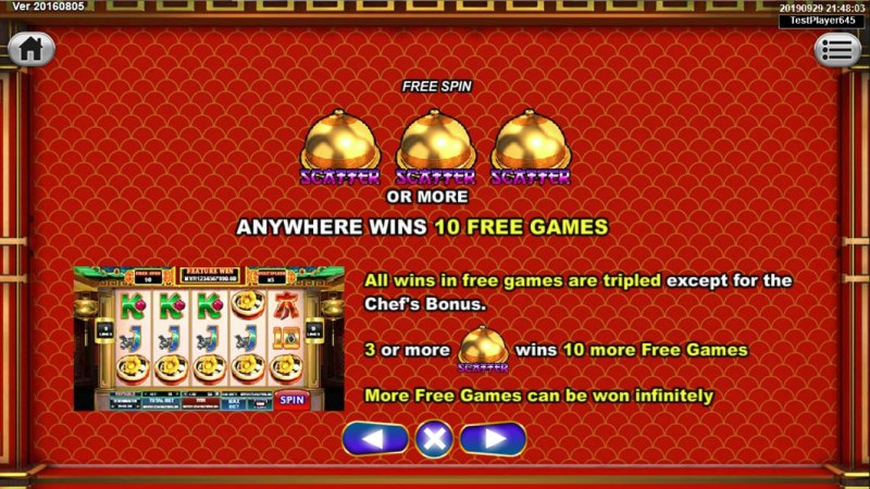 God's Kitchen :: Free Spins Rules