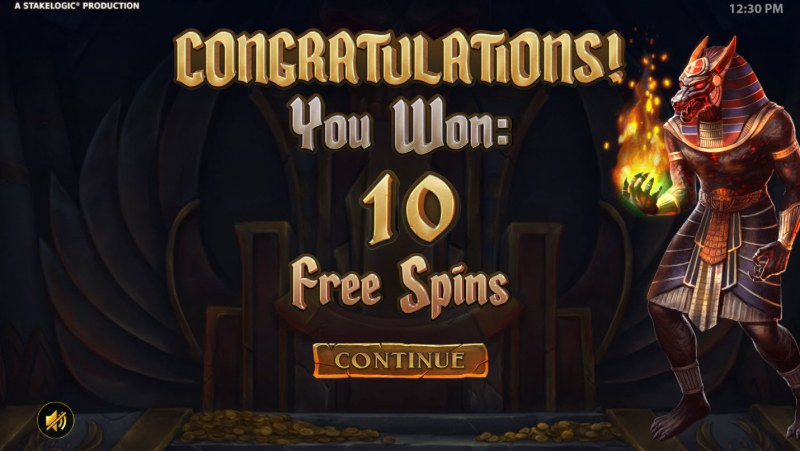 Gods of Death :: 10 Free Spins Awarded