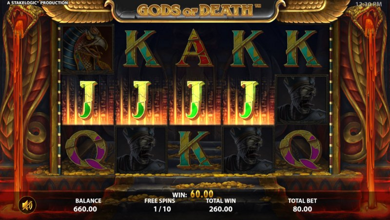 Gods of Death :: Free Spins Game Board