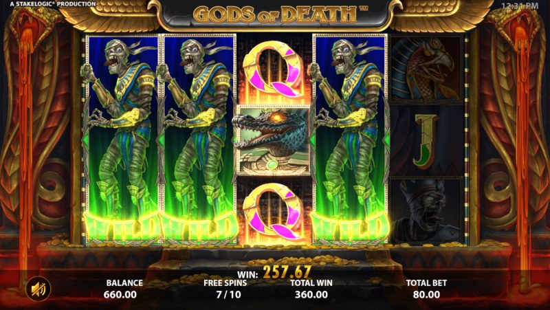 Gods of Death :: Multiple winning combinations leads to a big win