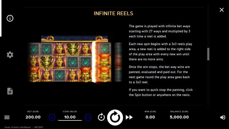 Play slots at Caribic: Caribic featuring the Video Slots Gods of Gold with a maximum payout of $32,000