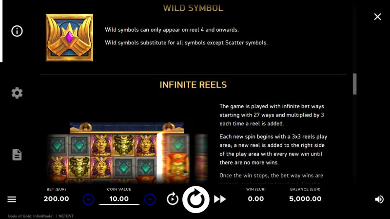 Gods of Gold :: Wild Symbols Rules