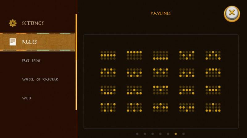 Gods of Karnak :: Paylines 1-20