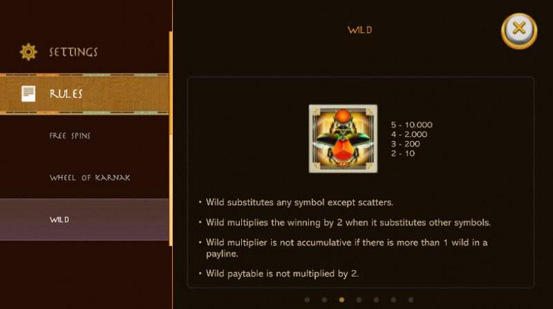 Gods of Karnak :: Wild Symbols Rules