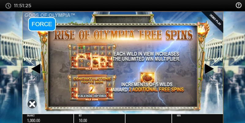 Gods of Olympus Megaways :: Rise of Olympus Free Spins