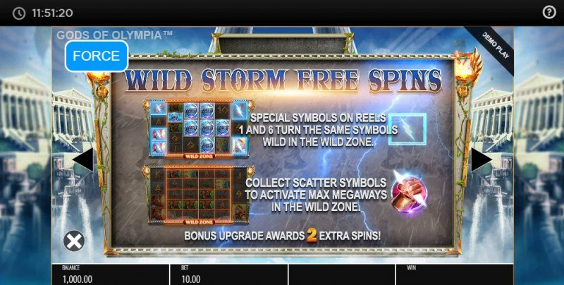 Gods of Olympus Megaways :: Wild Storm Free Spins