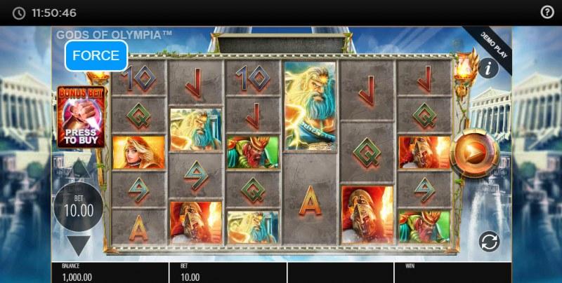 Gods of Olympus Megaways :: Main Game Board