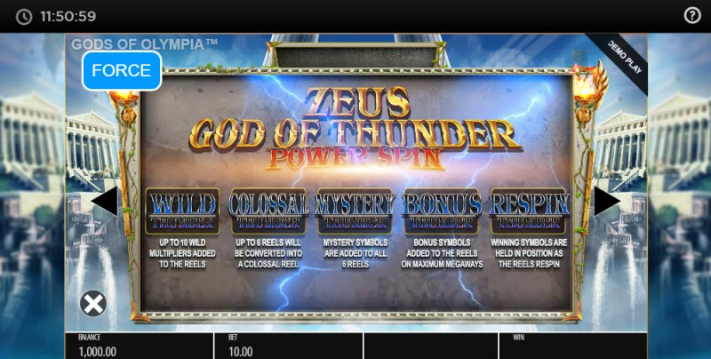 Gods of Olympus Megaways :: Power Spin