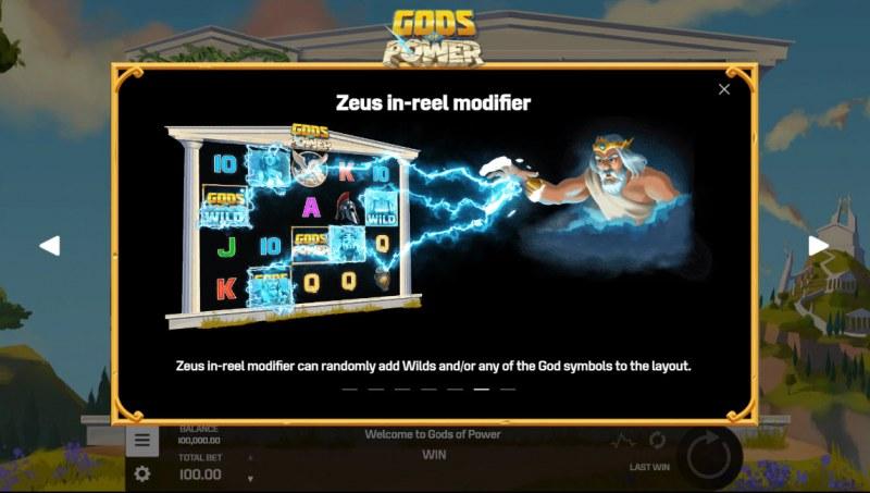 Gods of Power :: Zeus In-Reel Modifier