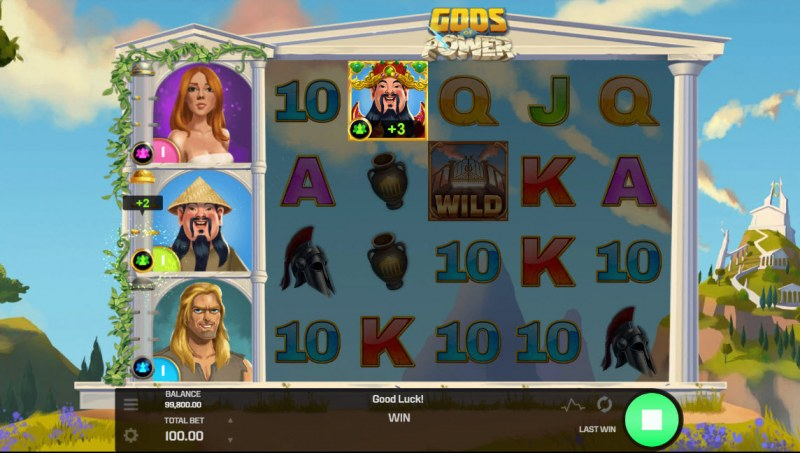 Gods of Power :: Land god symbols and earn points good towards free spins