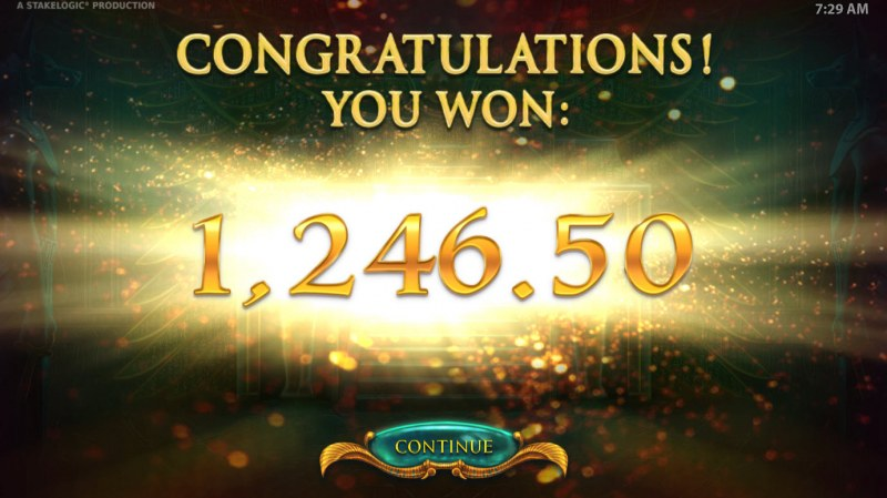 Gods of Secrecy :: Total Free Spins Payout