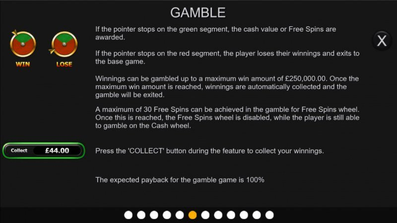 Gold Cash Free Spins :: Gamble feature