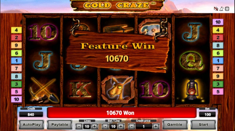 Gold Craze :: Total free spins payout