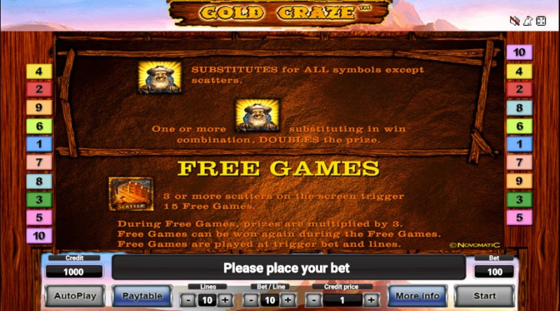 Gold Craze :: Free Games